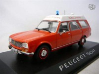 1/43 Peugeot 504 break pompiers ambulance 1979-NOREV475441