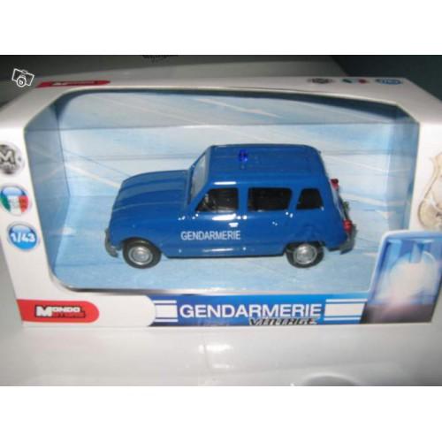 1 43 renault 4l gendarmerie mondomotors vente de voitures miniatures pour collectionneurs. Black Bedroom Furniture Sets. Home Design Ideas