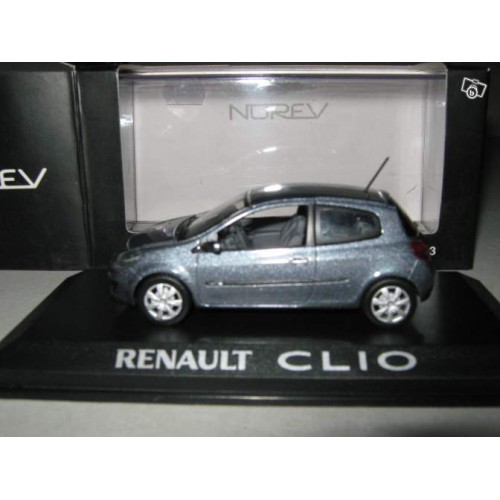 1 43 renault clio 3 2005 3 portes norev vente de voitures miniatures pour collectionneurs. Black Bedroom Furniture Sets. Home Design Ideas