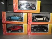 Lot de 5 3inches concept car club total Norev