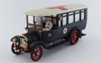 1/43 FIAT 18BL VEHICULES DE SECOURS AMBULANCE Fiat 18 BL ambulance Croix rouge + 2 figurines-1915-RIO1915.2.D