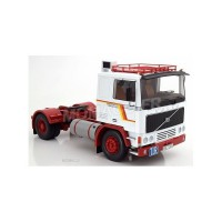 1/18 VOLVO CAMION MINIATURE DE COLLECTION TRACTEUR VOLVO F12 BLANC/ROUGE-ROADKINGSRK180031