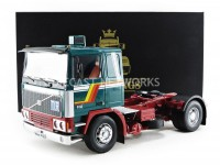 1/18 VOLVO CAMION MINIATURE DE COLLECTION TRACTEUR VOLVO F12 VERT/BLANC-ROADKINGSRK180032