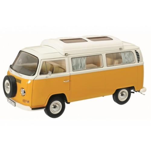 1 18 vehicule miniature volkswagen vw t2a camping bus orange schuco vente de voitures. Black Bedroom Furniture Sets. Home Design Ideas