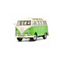 1/18 COMBI MINIATURE DE COLLECTION VOLKSWAGEN T1B SAMBA VERT/BEIGE-SCHUCO450028600