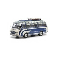 1/18 AUTOBUS/AUTOCAR MINIATURE DE COLLECTION SETRA S6 BLEUE/BEIGE-SCHUCO450034700