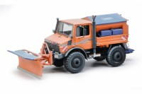 1/32 CAMION MINIATURE MERCEDES-BENZ UNIMOG U1600 DEBLAYEUSE ORANGE-SCHUCO450772400