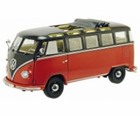 1/18 COMBI MINIBUS DE COLLECTION WOLKSWAGEN VW T1B SAMBA MARRON/NOIRE-SCHUCO450028400