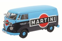 "1/18 COMBI VEHICULE PUBLICITAIRE MINIATURE DE COLLECTION VOLKSWAGEN VW T1B ""MARTINI""SCHUCO450028500"