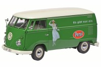 "1/18 COMBI VEHICULE PUBLICITAIRE MINIATURE DE COLLECTION VOLKSWAGEN VW T1B ""PERSIL""SCHUCO450036600"