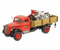 "1/43 CAMION MINIATURE DE COLLECTION OPEL BLITZ ""HOREX"" AVEC 2 MOTO-SCHUCO450305500"