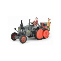 "1/32 LANZ TRACTEUR MINIATURE DE COLLECTION LANZ BULLDOG AVEC REMORQUE ""CHRISTMAS 2018""SCHUCO450770300"