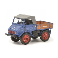 1/32 MERCEDES-BENZ CAMION AGRICOLE MINIATURE DE COLLECTION MERCEDES-BENZ UNIMOG 401 BLEU-SCHUCO450900300
