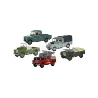 1/76 SET DE 5 LAND ROVER 88 OPEN TOP/88 FIRE/109 OPEN BACK/109 CANVAS BACK/80- OXFORD76SET17E