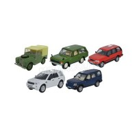 1/76 SET DE 5 LAND ROVER SERIE I/CLASSIC/P38/FREELANDER/DISCOVERY 3-OXFORD76SET49