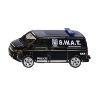 1/64 3-INCHES VEHICULES FORCES DE L'ORDRE POLICE VOLKSWAGEN T5 SWAT-SIKU1407