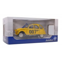 "1/18 VOITURE MINIATURE CITROEN 2CV6 JAMES BOND ""007"" 1981 JAUNE-SOLIDO-S1850012"