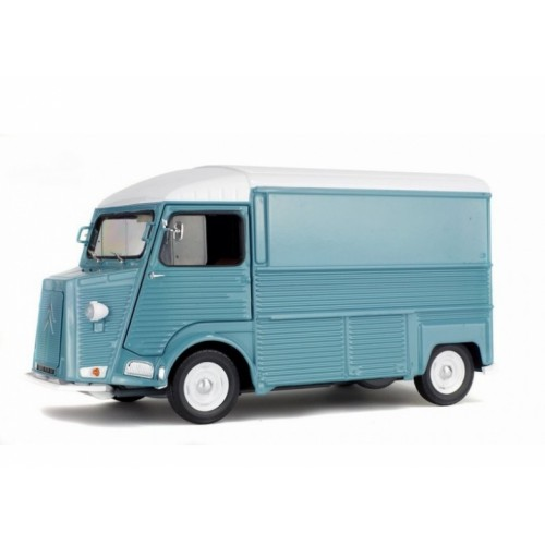 1 18 vehicule utilitaire miniature de collection citroen hy bleu 1969 solido vente de voitures. Black Bedroom Furniture Sets. Home Design Ideas