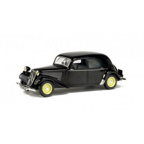 1 43 voiture miniature de collection citroen traction 11 noir 1950 solido vente de voitures. Black Bedroom Furniture Sets. Home Design Ideas