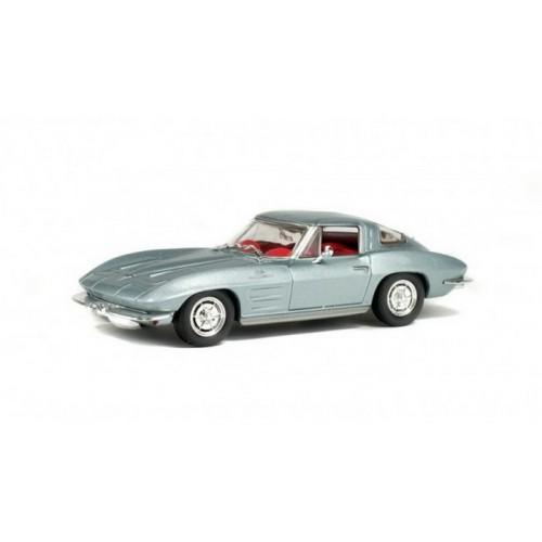 1 43 voiture miniature de collection corvette sting ray argent 1963 solido vente de voitures. Black Bedroom Furniture Sets. Home Design Ideas