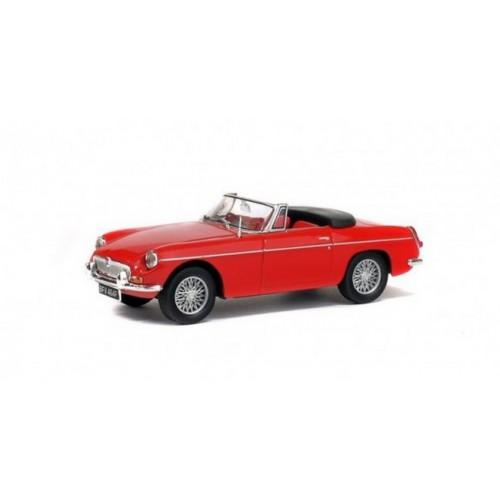 1 43 voiture miniature de collection mg type b cabriolet rouge 1964 solido vente de voitures. Black Bedroom Furniture Sets. Home Design Ideas