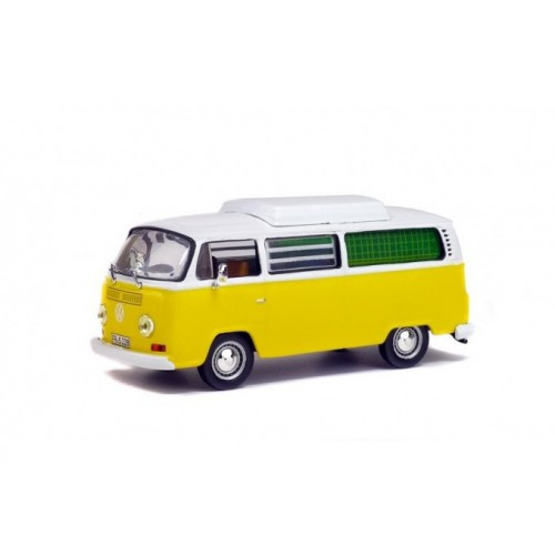 1 43 vehicule miniature volkswagen combi camping car jaune. Black Bedroom Furniture Sets. Home Design Ideas