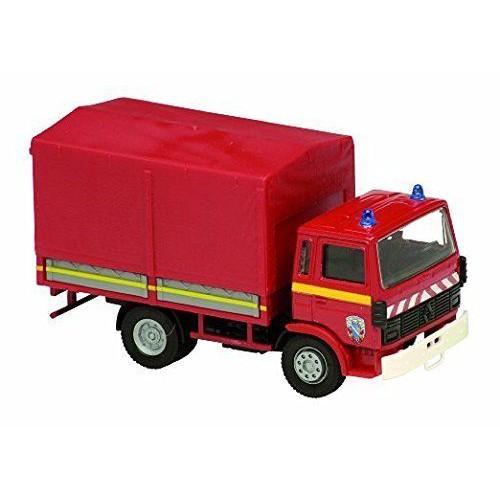 1 50 camion miniature de pompier renault bache 1982 solido vente de voitures miniatures pour. Black Bedroom Furniture Sets. Home Design Ideas