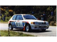 1/18 PEUGEOT VOITURE MINIATURE DE COLLECTION PEUGEOT 205 RALLYE USINE TOUR DE CORSE 1989-SOLIDO-S1801703