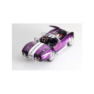 1/18 SHELBY VOITURE MINIATURE DE COLLECTION SHELBY COBRA 427 MKII 1965 VIOLET-SOLIDO-S1850003