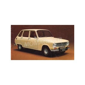 1/43 RENAULT VOITURE MINIATURE DE COLLECTION RENAULT 6 1970 BLANCHE-SOLIDO-S4304700