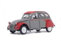 1/18 VOITURE MINIATURE DE COLLECTION CITROEN 2CV6 DOLLY 1985 GRIS/ROUGE-SOLIDO-S1850022