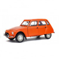 1/18 VOITURE MINIATURE DE COLLECTION CITROEN DYANE 6 1974 ORANGE-SOLIDO-S1800304