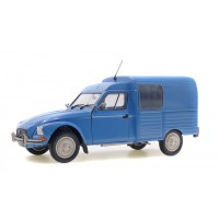 1/18 VOITURE MINIATURE DE COLLECTION CITROEN ACADIANE 1984 BLEU MYOSOTIS-SOLIDO-S1800401