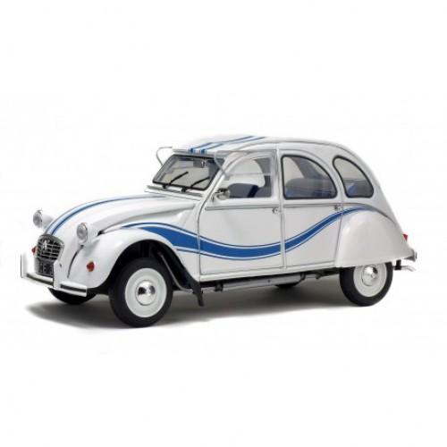1 18 voiture miniature citroen 2cv6 france 3 1983 blanc bleu solido s1850011 vente de voitures. Black Bedroom Furniture Sets. Home Design Ideas