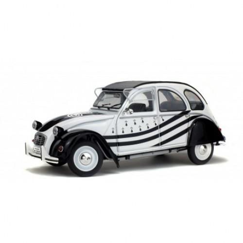 1 18 voiture miniature de collection citroen 2cv6 bzh 1978 blanc noir solido s1850018 vente de. Black Bedroom Furniture Sets. Home Design Ideas