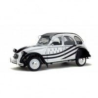 1/18 VOITURE MINIATURE DE COLLECTION CITROEN 2CV6 BZH 1978 BLANC/NOIR-SOLIDO-S1850018