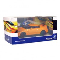 1/43 VOITURE MINIATURE DE COLLECTION NISSAN GT-R ORANGE-2007-SOLIDO-S4401200