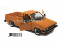 1/18 VOLKSWAGEN VOITURE MINIATURE DE COLLECTION VOLKSWAGEN CADDY MKI CUSTOM - 1982-Orange-SOLIDO-1803502