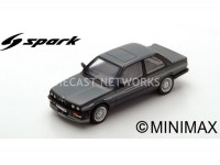 1/18 BMW VOITURE MINIATURE DE COLLECTION BMW ALPINA B6 (E30) - 1986-NOIR-Fabricant : SPARK-S2808