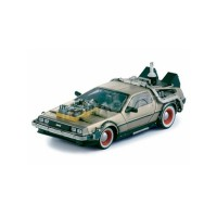 "1/18 DELOREAN VOITURE DE CINEMA MINIATURE DELOREAN DMC12 ""RETOUR VERS LE FUTUR"" EPISODE 3-SUNSTARSUN2712"