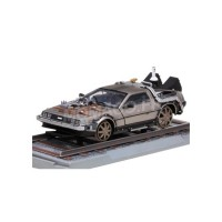 "1/18 DELOREAN VOITURE DE CINEMA DELOREAN DMC12 ""RETOUR VERS LE FUTUR"" VERSION SUR RAIL EPISODE 3-SUNSTARSUN2714"