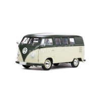 1/12 COMBI MINIATURE DE COLLECTION VOLKSWAGEN COMBI MINIBUS 1957-VERT/BEIGE-SUNSTARSUN5076