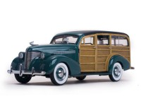1/18 VEHICULE MINIATURE CHEVROLET WOODY STATION WAGON 1939 VERT-SUNSTARSUN6171