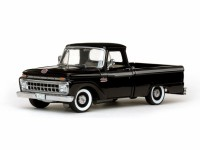 1/18 VEHICULE MINIATURE DE COLLECTION Ford F100 Cab Pick Up noir-1965-SUNSTARSUN1273