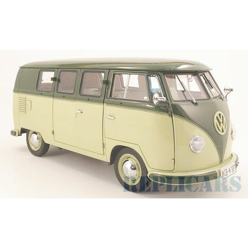 1 12 combi miniature de collection volkswagen combi minibus 1957 vert beige sunstarsun5076. Black Bedroom Furniture Sets. Home Design Ideas