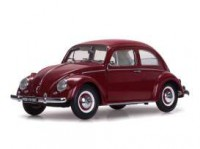 1/12 VOITURE VOLKSWAGEN VW BEETLE SALOON 1961 ROUGE-SUNSTARSUN5210