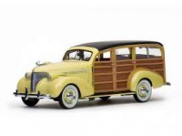 1/18 VEHICULE MINIATURE CHEVROLET WOODY STATION WAGON 1939 CREME-SUNSTARSUN6170