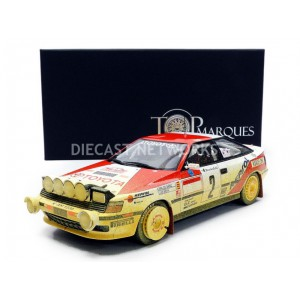1/18 TOYOTA ST 165 - WINNER RALLYE MONTE CARLO 1991 DIRTY-Pilotes : C. Sainz - L. Moya-TOP MARQUES COLLECTIBLES  TOP44AD