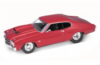1/18 VOITURE MINIATURE DE COLLECTION Chevrolet Chevelle Pro Street rouge-1970-WELLY