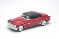 1/24 VOITURE MINIATURE DE COLLECTION Buick Skylark rouge cabriolet fermé-1953-WELLY24027HRED